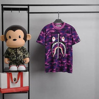 Kaos Anak Laki - Laki Bape Premium Quality - Ungu, 140 ( 7-8y )