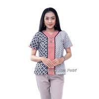 Blouse Batik Atasan Wanita Modern By Batik Dua Putri Collection