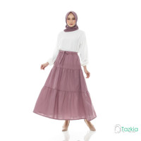 Bawahan Muslim Wanita | Diana Skirt Dusty | Rok Polos Katun