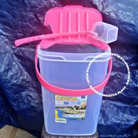 Tempat es buah 30 liter Genoa +gayung / Aquarium es kelapa Vindo