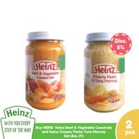 1 Heinz Beef & Vegetable Casserole & 1 Heinz Creamy Pasta Tuna Mornay