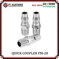 Quick Coupler PM 20 Sambungan Selang Kompresor Recoil Cuk Kopler PM20