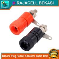 1 Pasang 4mm Banana Plug Female Socket Konektor Audio Speaker Adapter