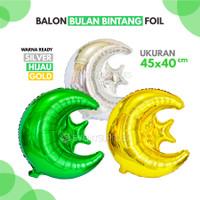 Balon Foil Bulan Bintang Besar Ramadhan Idul Fitri Lebaran