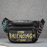 Balenciaga bumbag graffiti black multi