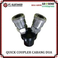 Quick Coupler Cabang 2 Kopler Sambungan Kompresor Quick Coupling 2 Way