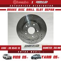 Brembo Brake Disc Rotor drill slot Depan Toyota Vios 05 Yaris 1.5 05
