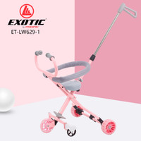 magic stroller micro trike LW 629 - 1 - Merah Muda