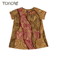 TORIO Smart Casual Batik Dress - Baju Dress Batik Anak Perempuan