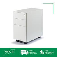 Mobile Pedestal / Drawer Metal VINOTI Office Toast Putih