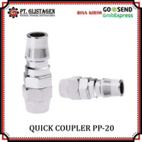 Quick Coupler PP 20 Sambungan Selang Kompresor Recoil Cuk Kopler PP20