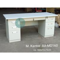 Meja kerja besi / Meja kantor | MD-160 - White beige