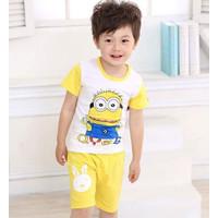 Baju Rumah Anak Cowok Impor motif Minion, Army ukuran 1-8tahun - Minion, 90