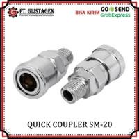 Quick Coupler SM 20 Sambungan Selang Kompresor Recoil Cuk Kopler SM20