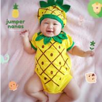 Baju Bayi Laki Laki Perempuan Jumper Kostum Karakter Bayi - Nanas