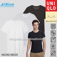 UNIQLO AIRism T-SHIRT MICRO MESH CREW NECK KAOS DALAM PRIA JASTIP SALE