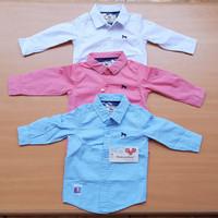 Kemeja anak /bayi laki laki import warna pink, putih & biru .