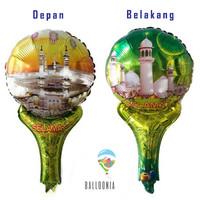 Balon Foil Handheld Pentung Lebaran Idul Fitri / Dekorasi Ramadhan