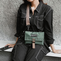 Tas Selempang Dompet Sling Bag Wallet Arcio Mika Green