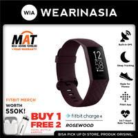 Fitbit Charge 4 Fitness Activity Tracker Rosewood
