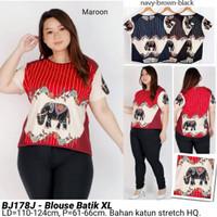 BLOUSE BIGSIZE BATIK MODERN XL ATASAN CEWEK JUMBO MURAH FASHION WANITA
