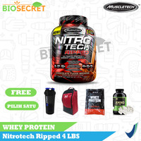 Muscletech Nitrotech Ripped 4 lbs 4lbs Muscle tech Whey Protein