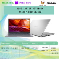 ASUS LAPTOP VIVOBOOK A416EP i3-1115G4 4GB 512GB MX330 W10+OHS FHD