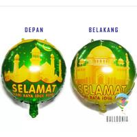 Balon Foil Bulat Lebaran Idul Fitri / Dekorasi Ramadhan