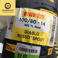 Ban Motor Pirelli Diablo Rosso Sport 100/80 Ring 14 Tubeless / Rear