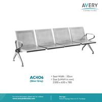 Avery Furnitures - Kursi Bandara / Kursi Tunggu Besi 4 Dudukan AC406