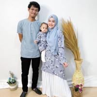 baju couple keluarga/baju kembaran keluarga/couple set abu