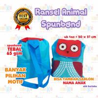 TAS RANSEL ANIMAL SPUNBOND SOUVENIR ULTAH ANAK MURAH GOODIE BAG GOODY