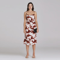 Wearstatuquo Montego Tie Dye Slip Dress - Brown