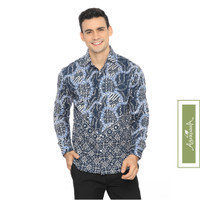 Agrapana Slimfit Baju Kemeja Batik Pria Slim Fit Lengan Panjang Arya
