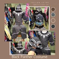 Setelan Stelan Baju Karakter Kostum Black Panther Anak Laki Cowok