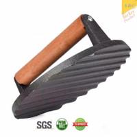 Cast iron presser turkey Press 7 Inch Premium pan grill griller