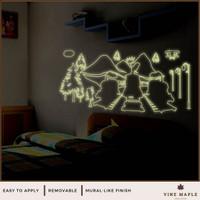 Thomas Train (60x90cm) - Wall Sticker Glow In The Dark