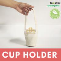 Cup Holder Ramah Lingkungan - Tas Kanvas Minuman - Souvenir Ramah Ling