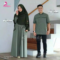 Baju Couple Pasangan Muslimah Dewasa Pria Gamis Wanita Keluarga Dress