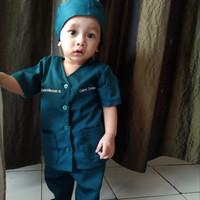 baju oka anak - baju dokter jaga - seragam perawat - costume profesi