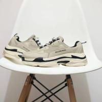 Sepatu Sneakers Balenciaga Triple S Cream Women Import