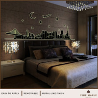 City Night (60x90cm) - Wall Sticker Glow In The Dark