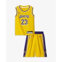 STELAN BAJU JERSEY BASKET NBA KIDS ANAK LOS ANGELES LAKERS - JAMES 23 KUNING, S
