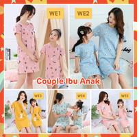 LAPAGO - Dress Anak Ibu Perempuan Import - Baju Tidur Kartun Motif