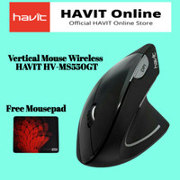 HAVIT HV-MS55GT Wireless Vertical Mouse with Ergonomic Design, Optical