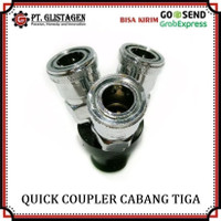 Quick Coupler Cabang 3 Kopler Sambungan Kompresor Quick Coupling 3 Way