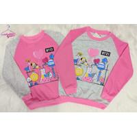 Baju Sweater Anak Perempuan BT21 Atasan Anak Cewek BTS 3-11 Tahun