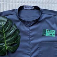 Baju Jaga Invisible Zipper Abu-abu Baju Perawat Seragam Bidan Baju Oka