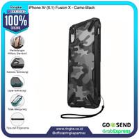 Ringke iPhone Xr Fusion X Camo Black Softcase Anti Crack Military Bump
