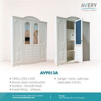 Avery Furnitures - Lemari Pakaian Besi 4 Pintu AVP - 013A / AVP - 013B